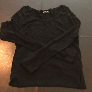 Express black fishnet type of sweater